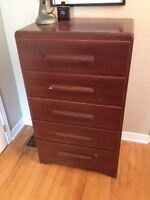 Solid Wood Dresser - tall, 5 drawers