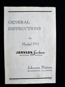 1947 Johnson 22hp Owners Manual