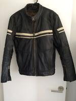 Men's brown leather 'Cafe Style' Jacket size 40 (medium)