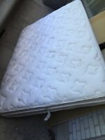Double sized twin bed with spring