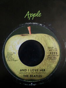 The Beatles !  David Bowie ++ 45s Apple records