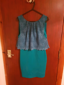 Green Dress Topshop Size 10
