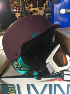 Brand new helmet and goggles