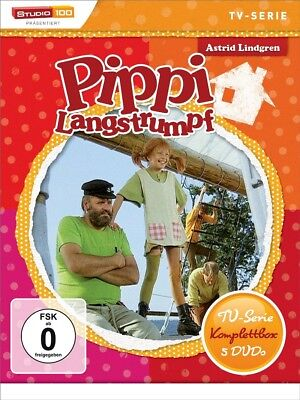 Astrid Lindgren: Pippi Langstrumpf - TV-Serie Komplettbox 5 DVDs NEU OVP