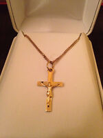 10Kt Gold Necklace with 10Kt Gold Cross