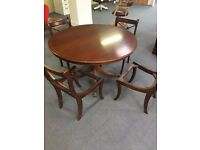 Reproduction Style Dining Table and Chairs