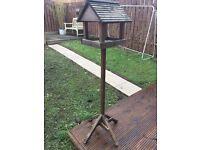 Wooden bird house feeder