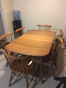 Wooden Dining Table Set for 6 For Sale