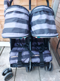 Cosatto Supa Dupa Twin Stroller Cuddle Monster 2 Pushchair Buggy