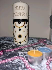 Eid Large Pillar Candle