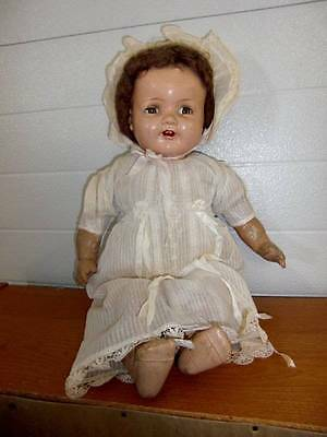 """American Character ~ Antique 20"""" Chuckles Composition Doll 1930's"""