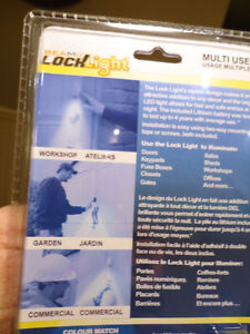 New Silver Color Lock Lights -Touch Activated Door Lock Lighting Kitchener / Waterloo Kitchener Area image 3
