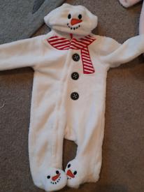Snowman onesie 3-6mths