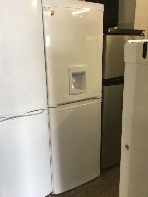 Beko white Tall Fridge Freezer with water dispenser