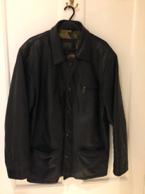 Men's Lakeland Black Leather Winter Jacket or Coat