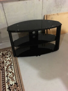 Glass tv stant