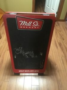 Mill st. Brewery double sided chalk sign excellent condition