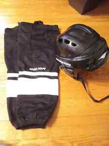 Bauer youth XL hockey socks and helmet  London Ontario image 1