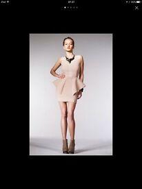 Aqua by Aqua klington dress 8UK Nude