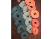 74 hand dyed paper lanterns in various sizes