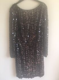 Xscape dress size 6 and heels size 6