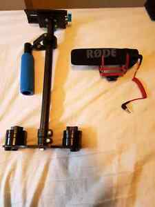 DSLR accessories ( Rode mic and stabilizer)