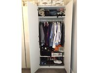 Nearly new White IKEA PAX wardrobes with Fardal doors with soft closing hinges