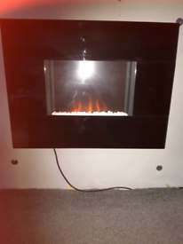 Electric glass fire