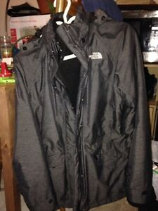 Grey two piece Northface jacket (women's) Edmonton Edmonton Area image 1