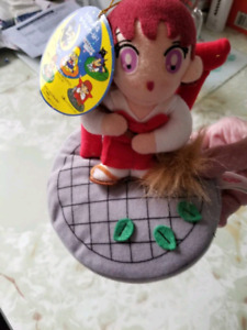 Sailor moon rei mars ufo catcher plush doll with tag vintage