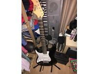 Electric Guitar And Amp (Left Handed)