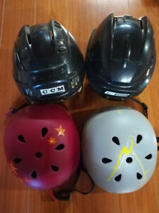 Children bike and hockey helmets (Used)
