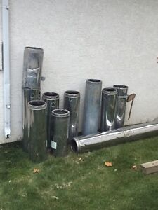 """9"""" insulated wood stove chimney."""