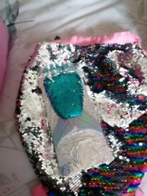 Mermaids tail bag.