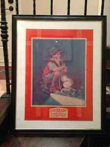 VINTAGE EVEREADY ADVERTISEMENT FRAMED - PARKER PICKERS -