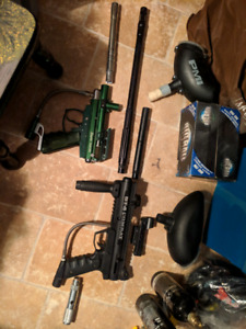 Paintball guns with accessories