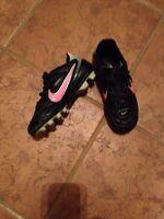 Girls Nike soccer or baseball shoes