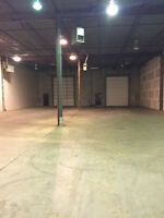 Warehouse & industrial shop space available, low rates