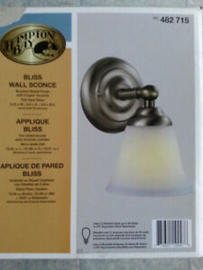 NEW Wall Mount Nickle Finish Light From Home Depot 482-715