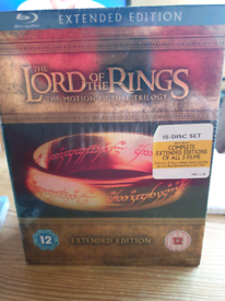 Blu ray lord of the rings DVD set