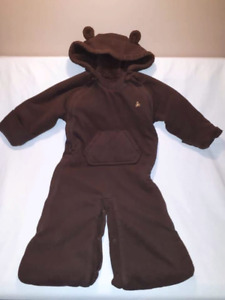 Brown Gap Baby Snowsuit 6/12mts Converts to Bunting Bag EUC