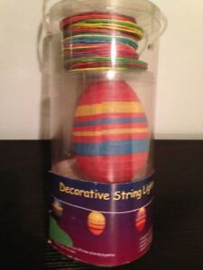 NEW PACKAGE OF 10 PATIO DECORATIVE LANTERN STRING LIGHTS