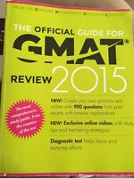 2015 GMAT textbook w/ study guide 30$