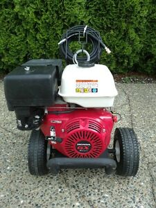 POWERJET pressure washer with HONDA engine & GP surface cleaner