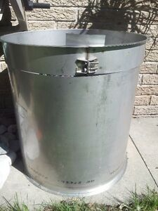 """AMPCO 18"""" Stainless Steel Exhaust Pipe - Fire pit"""