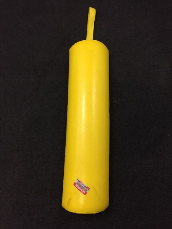 """Graebel Physical Therapy Positioning Half Round Yellow Vinyl 24""""x6""""x3"""""""