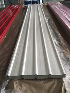 GRAY WHITE 12 14 16 FT STEEL SHEET SIDING ROOFING  BARN SHED