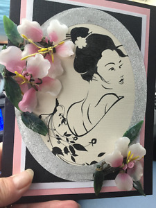 HAND CRAFTED GREETING CARDS - SERENITY CARDS by SIMONE
