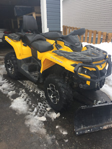 2013 CAN AM 500 Max XT with Plow