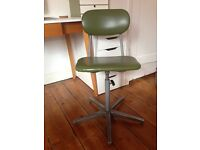 Tansad Green Retro Industrial Machinist Swivel Chair
